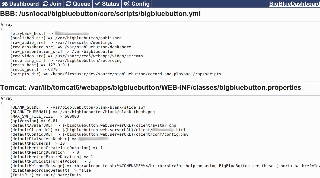 Bigbluedashboard Interface For Bigbluebutton